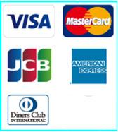 クレジット払い出来ます!jcb,visa,mastercard,セゾンカード使えます