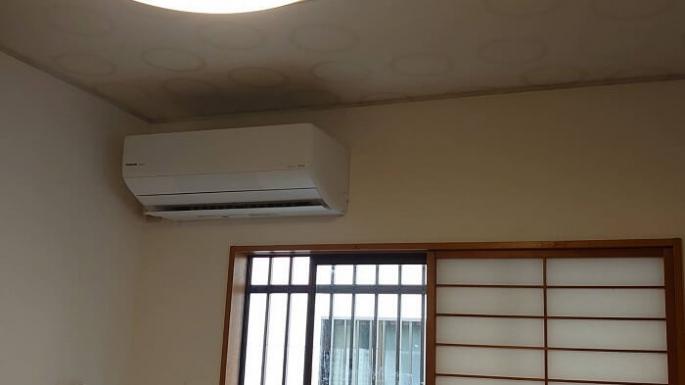 松戸市小金きよしヶ丘でエアコン取り付け工事