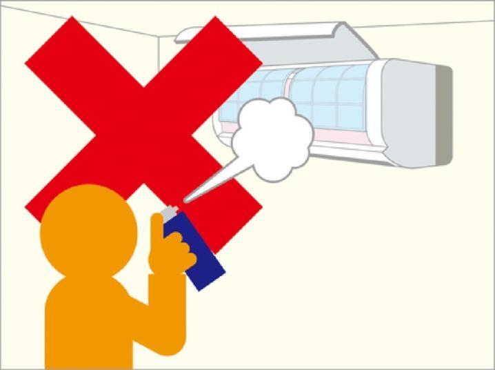 エアコンに除菌スプレーを使うときは故障しないよう気をつけてください。